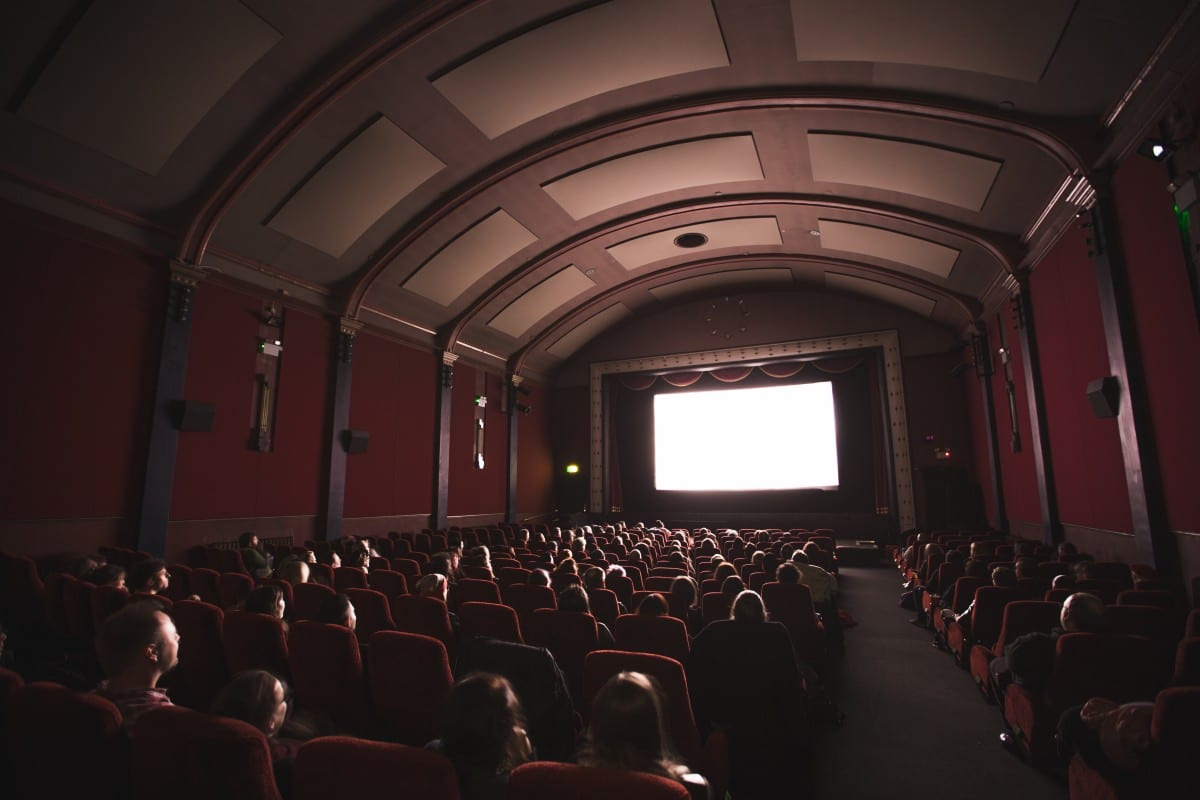movie theaters are prime examples of front projection